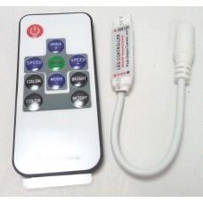 Led controler mic RGB cu telecomanda RF